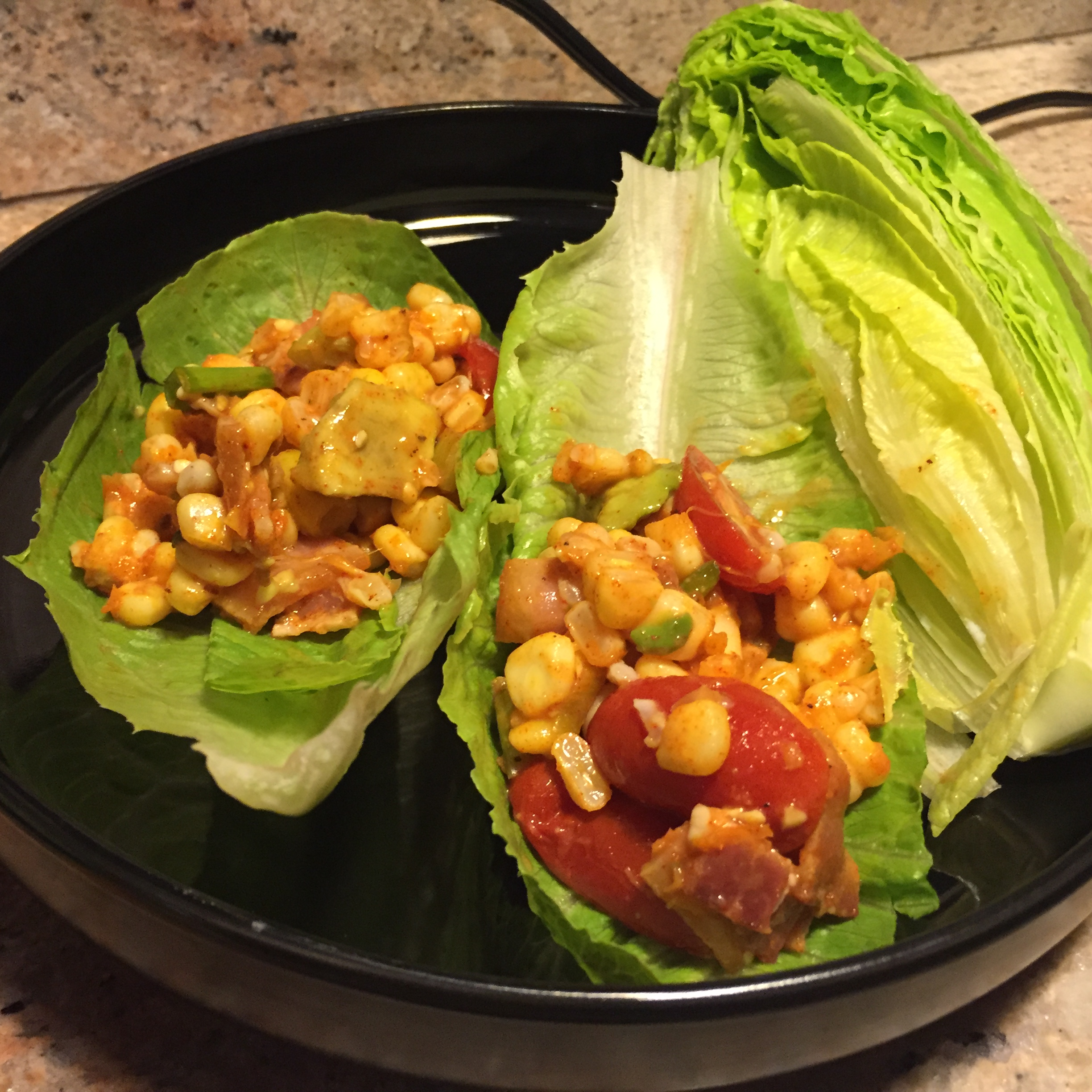 We made the same BLT wraps as we've done before . We followed the ...